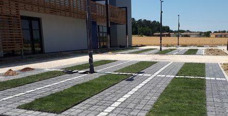 Parking dalles Ecovegetal Saïx paysagiste