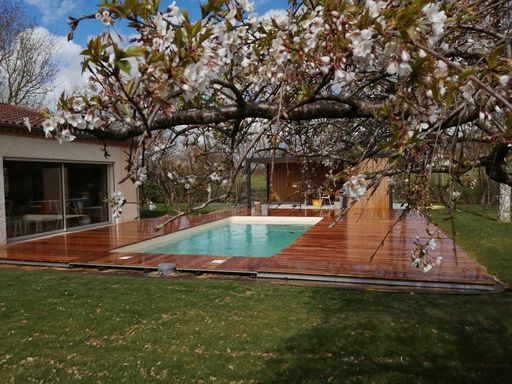 terrasse bois exotique bollard saix