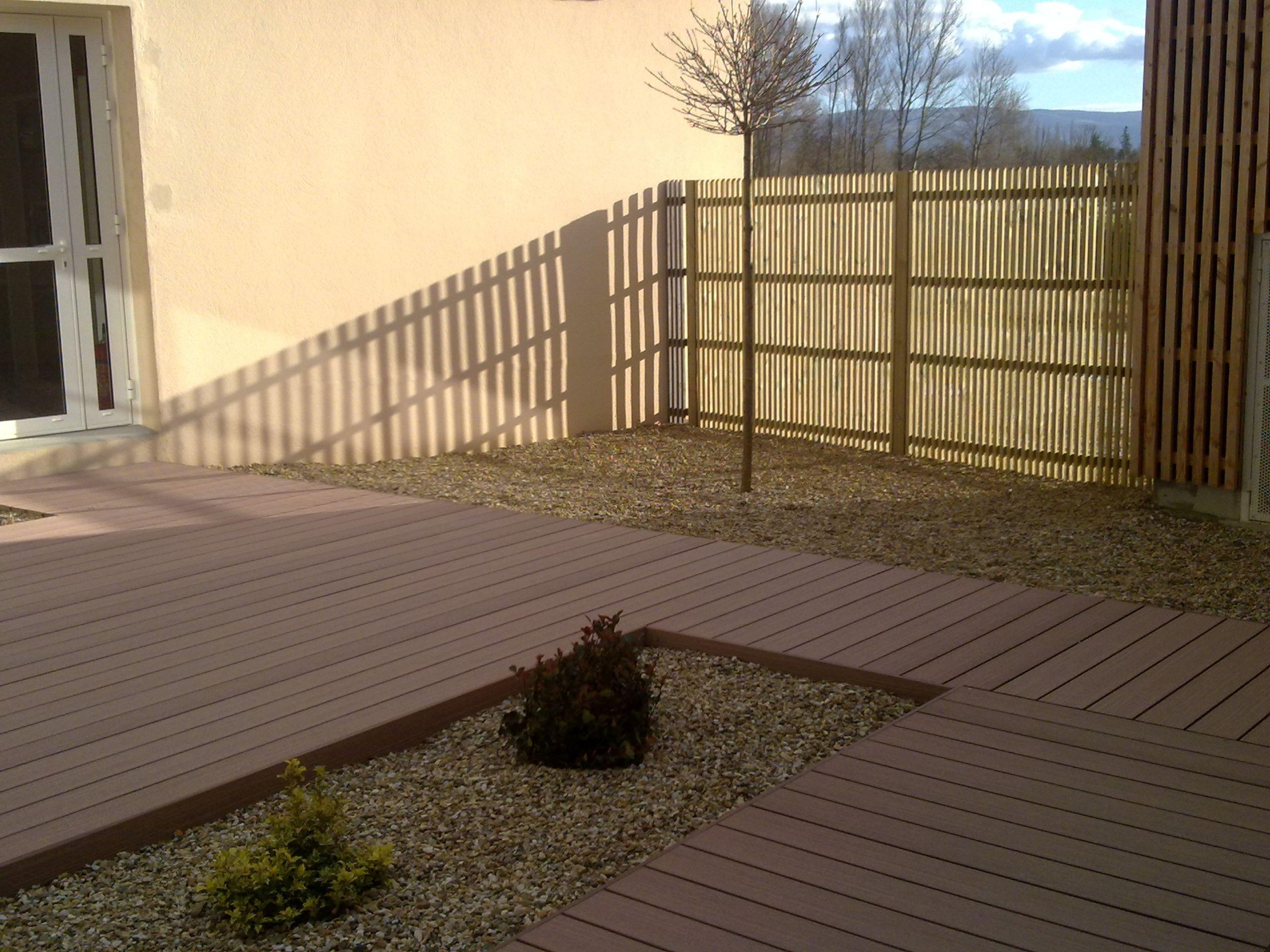 bollard paysagiste terrasse bois composite