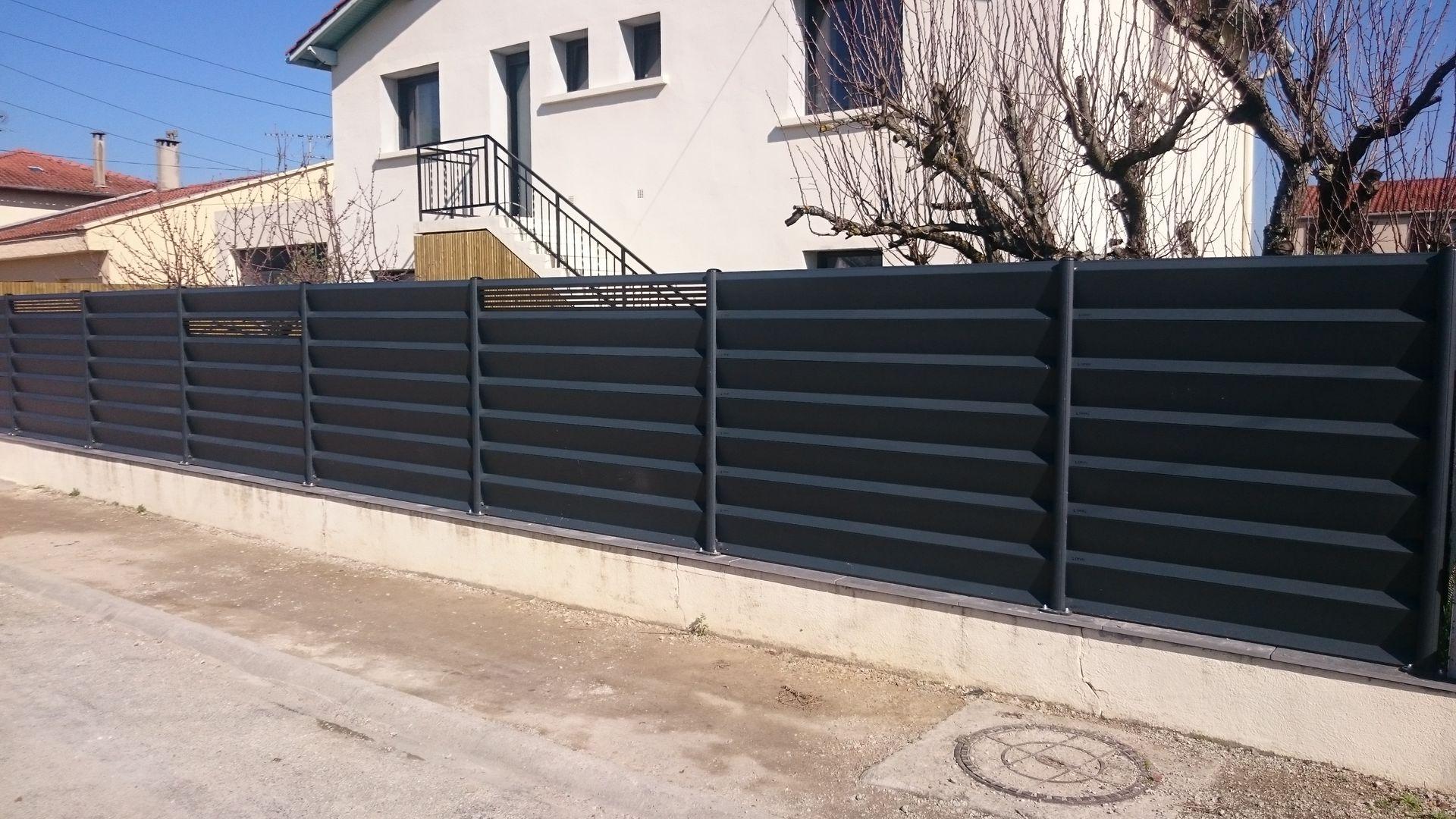 paysagiste saix panneaux z sur muret